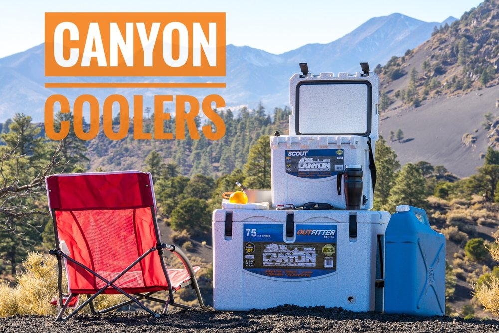 The best way to camp. Either cooler also makes a great seat.