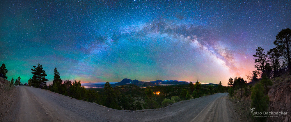 Aurora and Skyglow in Northern Arizona