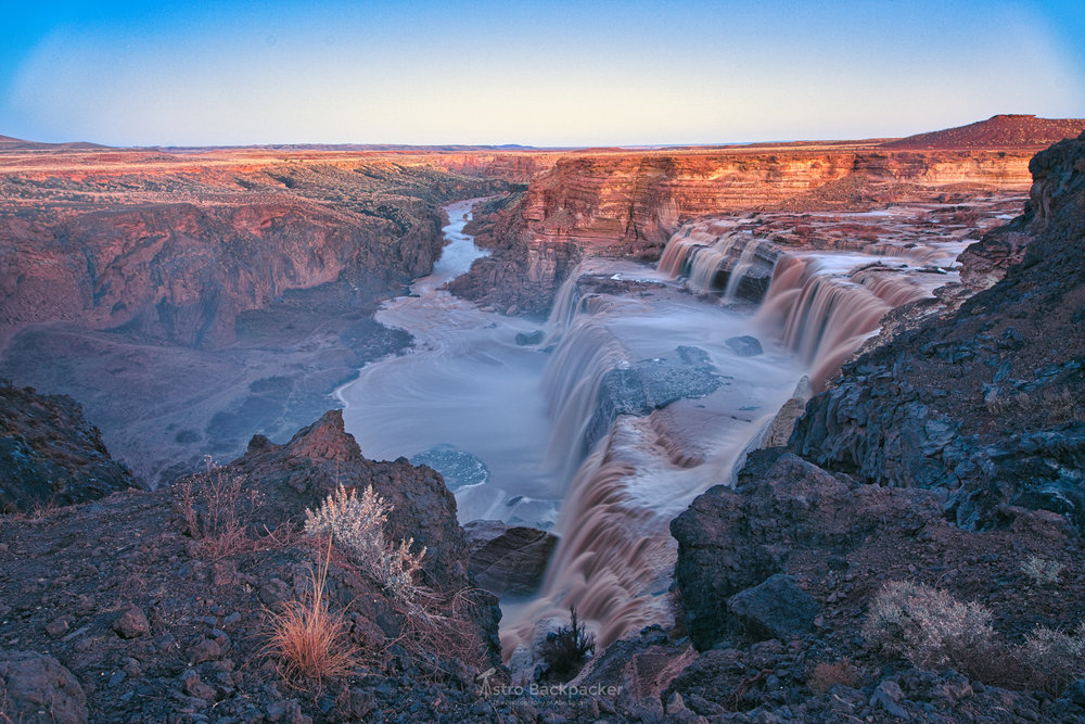 Dodging and Burning and the Advanced Contrast made a massive difference in this image at  Grand Falls, Arizona.