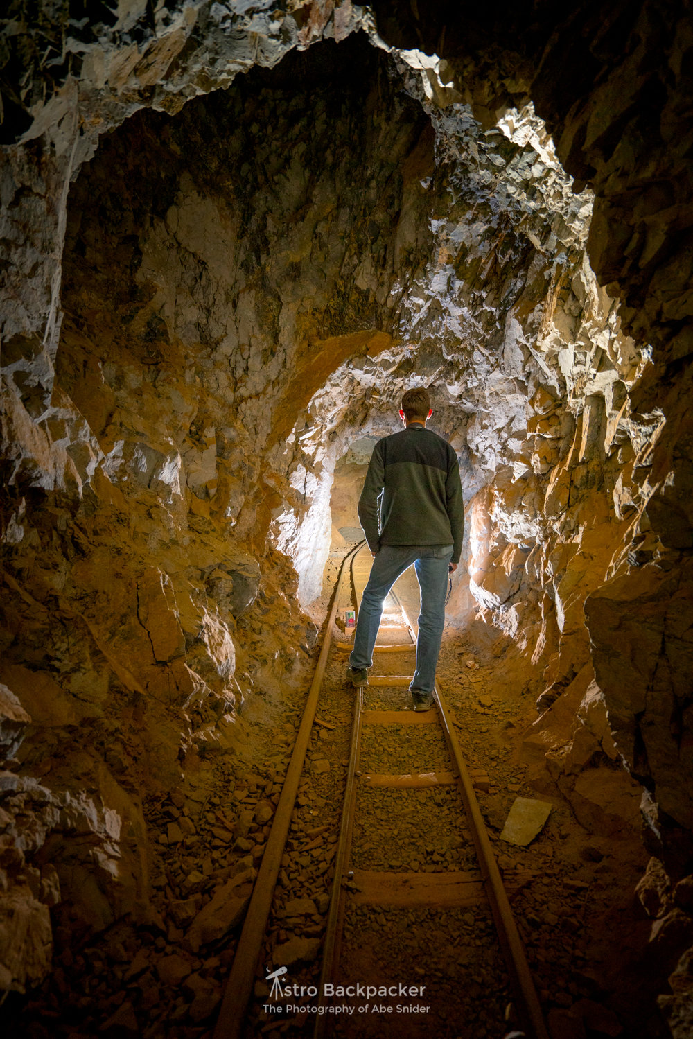 Andy Orr explores an abandoned mine near Death Valley.