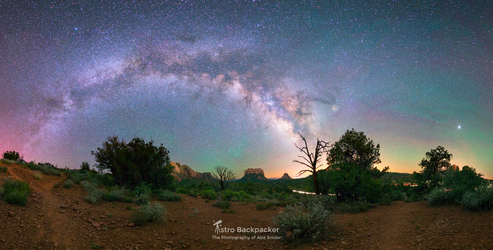 Milky Way over Sedona, Arizona
