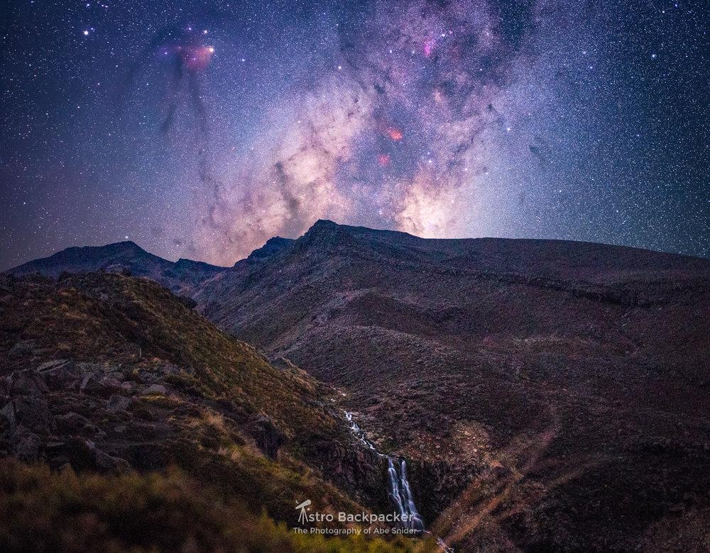 Mt. Ngauruhoe by Starlight