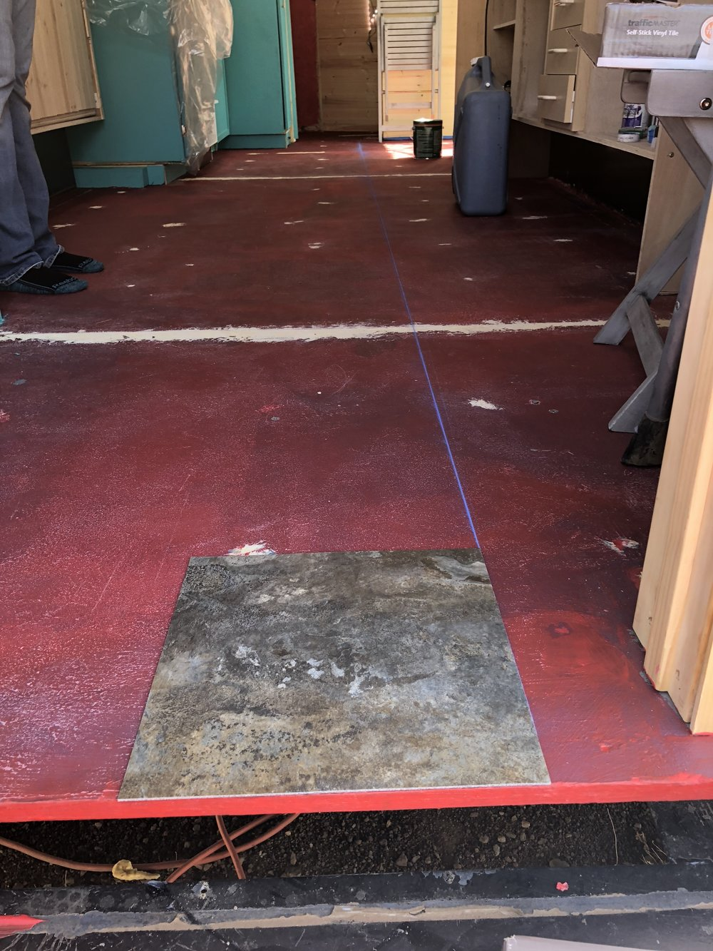 The first bit of flooring -