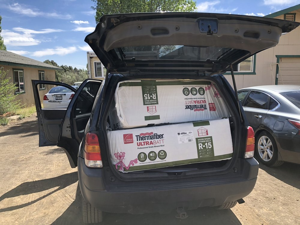 It fit. - Would you believe all five packs fit in our Ford Escape.