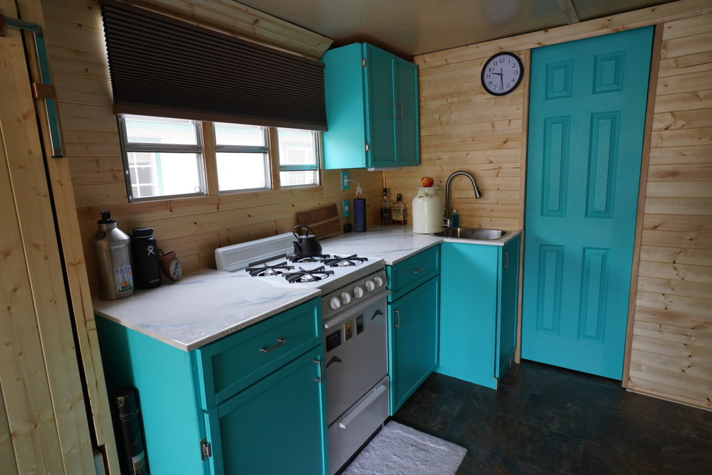 We have cooked many meals in our tiny kitchen. Its actually not that tiny. -