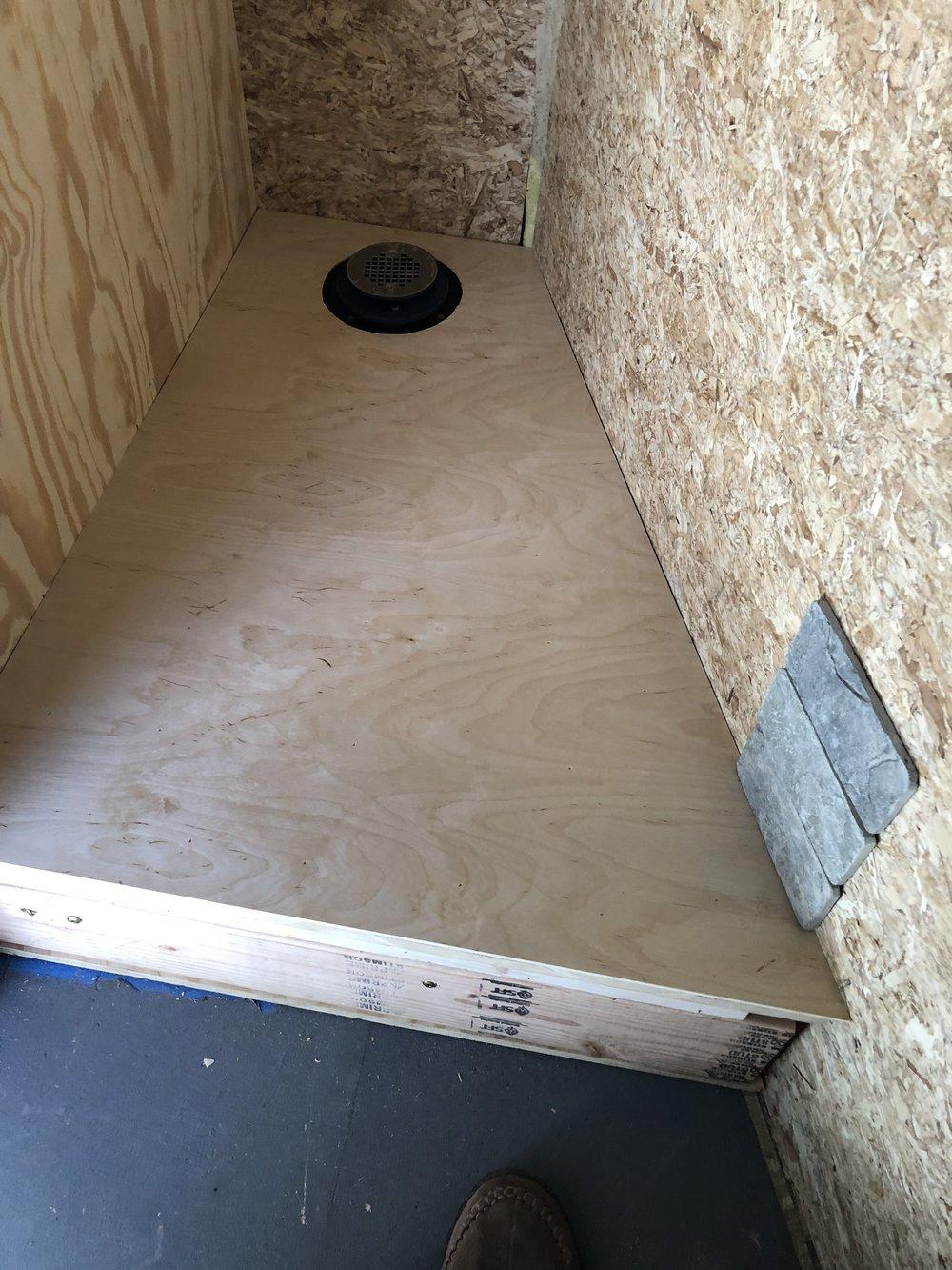 Shower base -