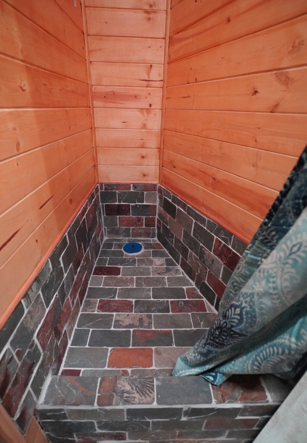 Finshed after sealing the walls and grout.  -