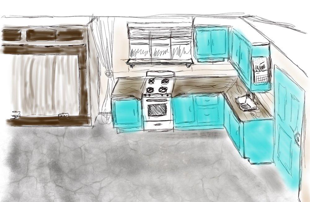 Kitchen sketch -