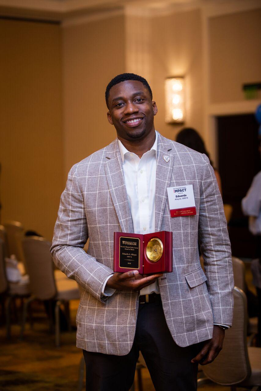Dr. Tony Alleyne Receives Penn GSE Recent Alumni Award.jpg