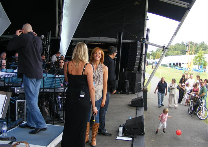 Rehearsal for Abba Symphonic at Henley Regatta with the BSO