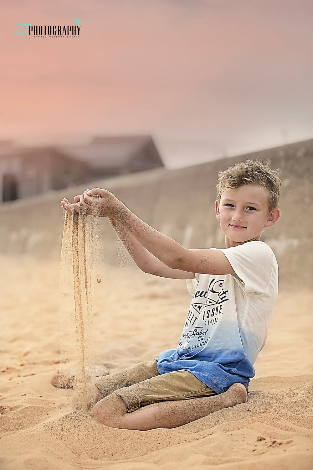 boy on the beach in exmouth