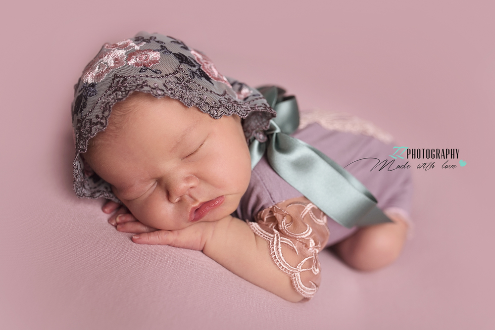 sweet baby girl newborn photography exeter