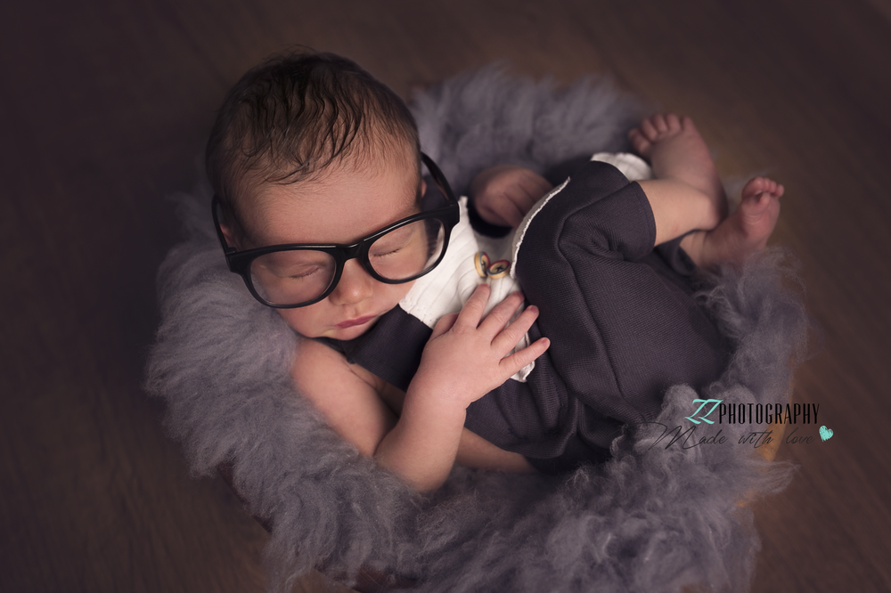 newborn baby with glasses devon exeter