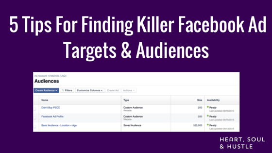 Finding Killer Facebook Targets