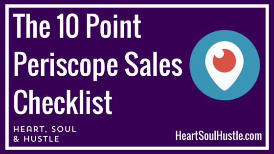 The 10 PointPeriscpe SalesChecklist