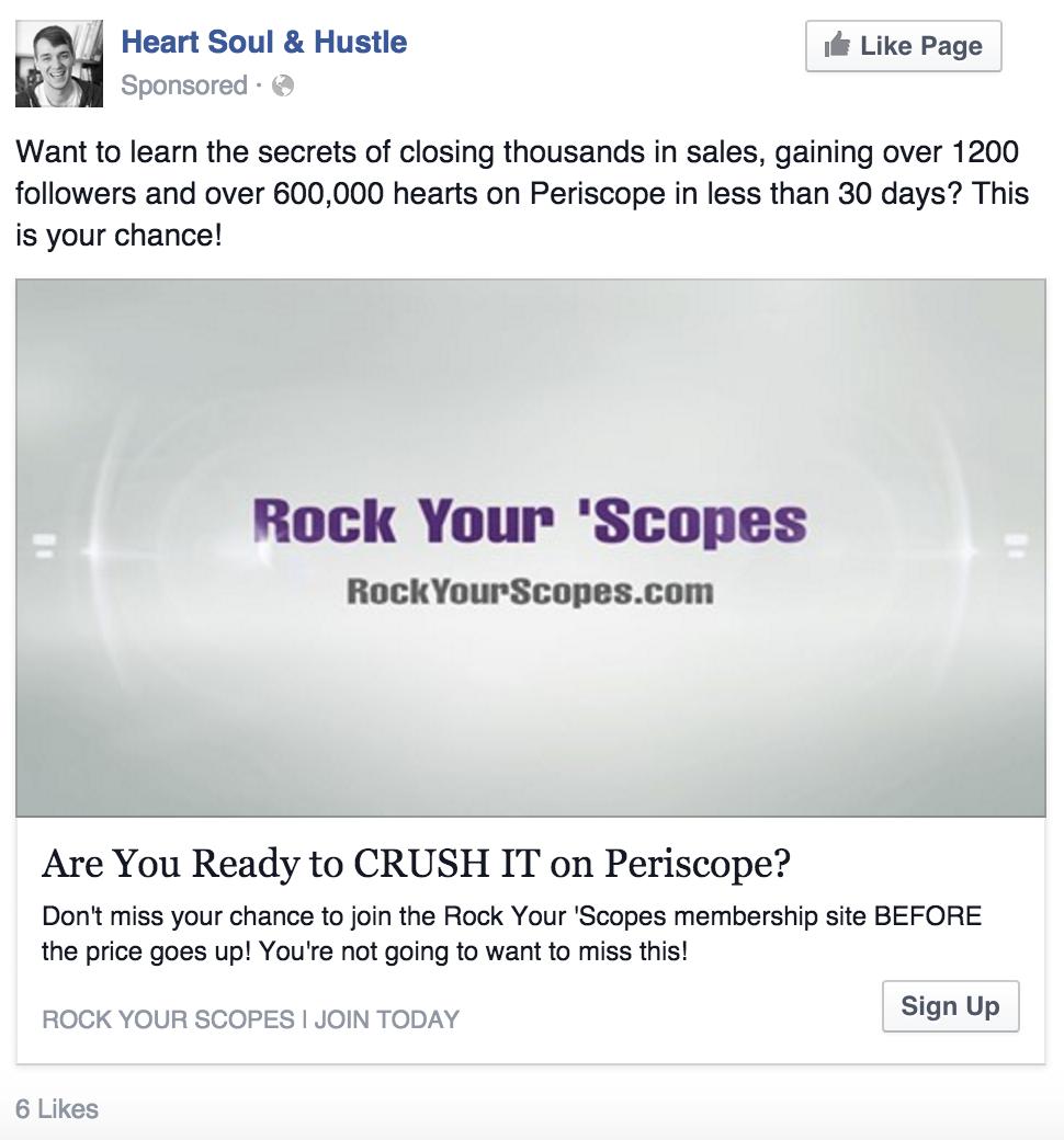 Facebook Ad RYS