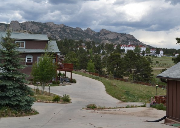 Wapiti - View of Stanley Hotel