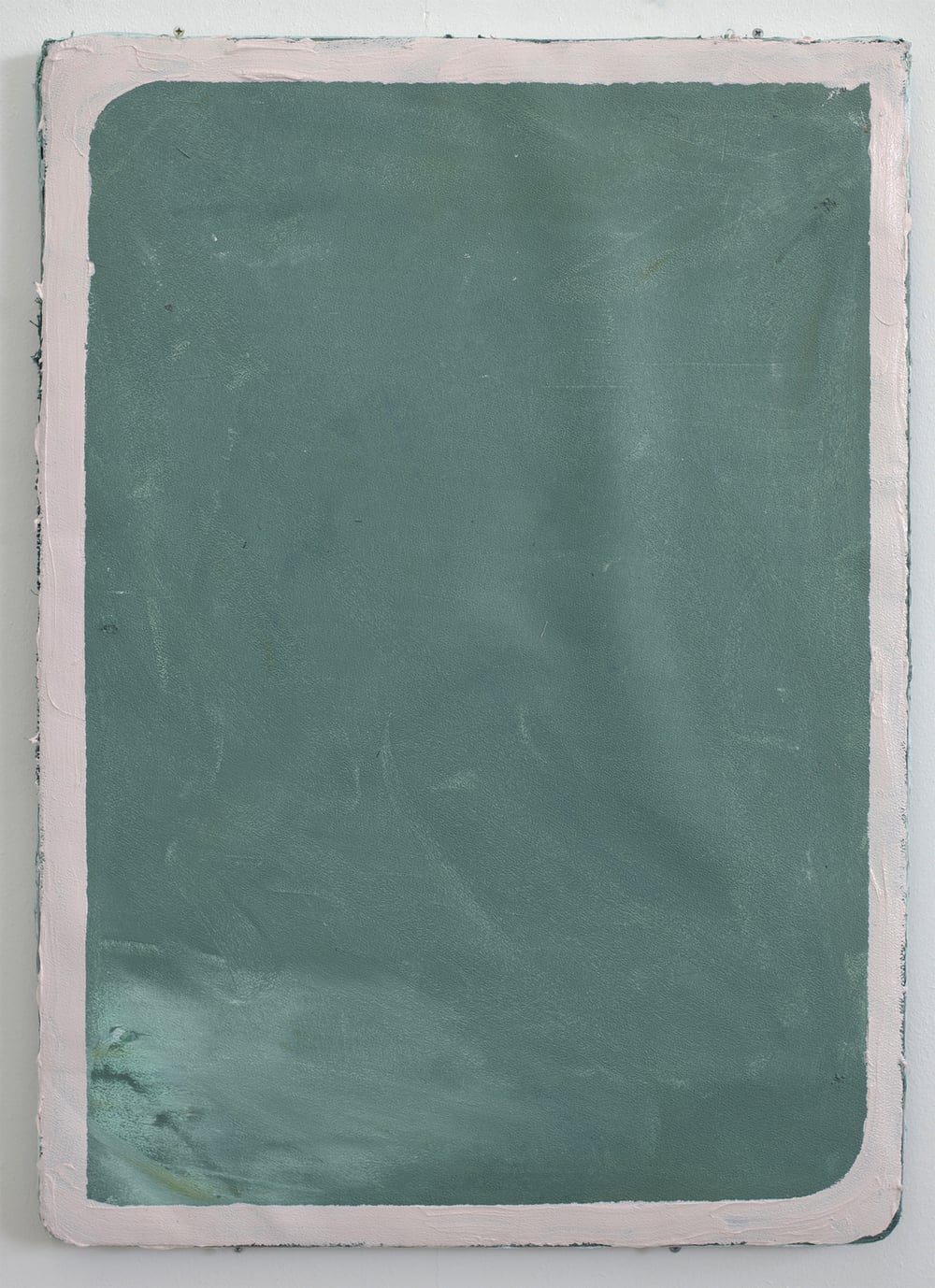 'Untitled' 2013 Oil and household paint on noticeboard 64 x 70 x 8cm