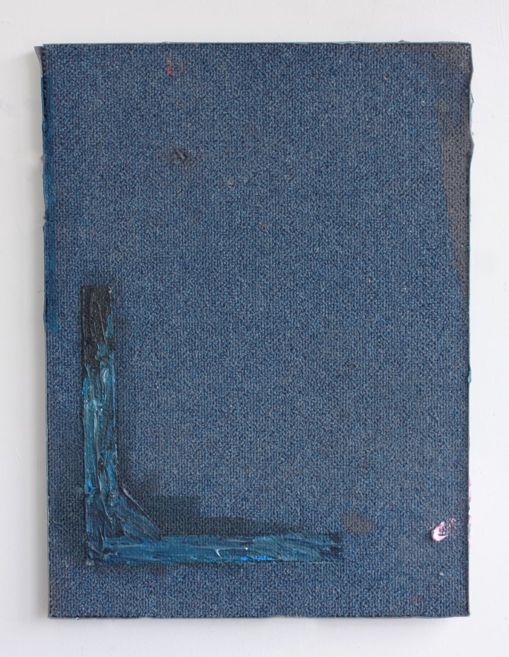 'Untitled' 2014 Oil on carpet tile 32 x 18  x 2cm