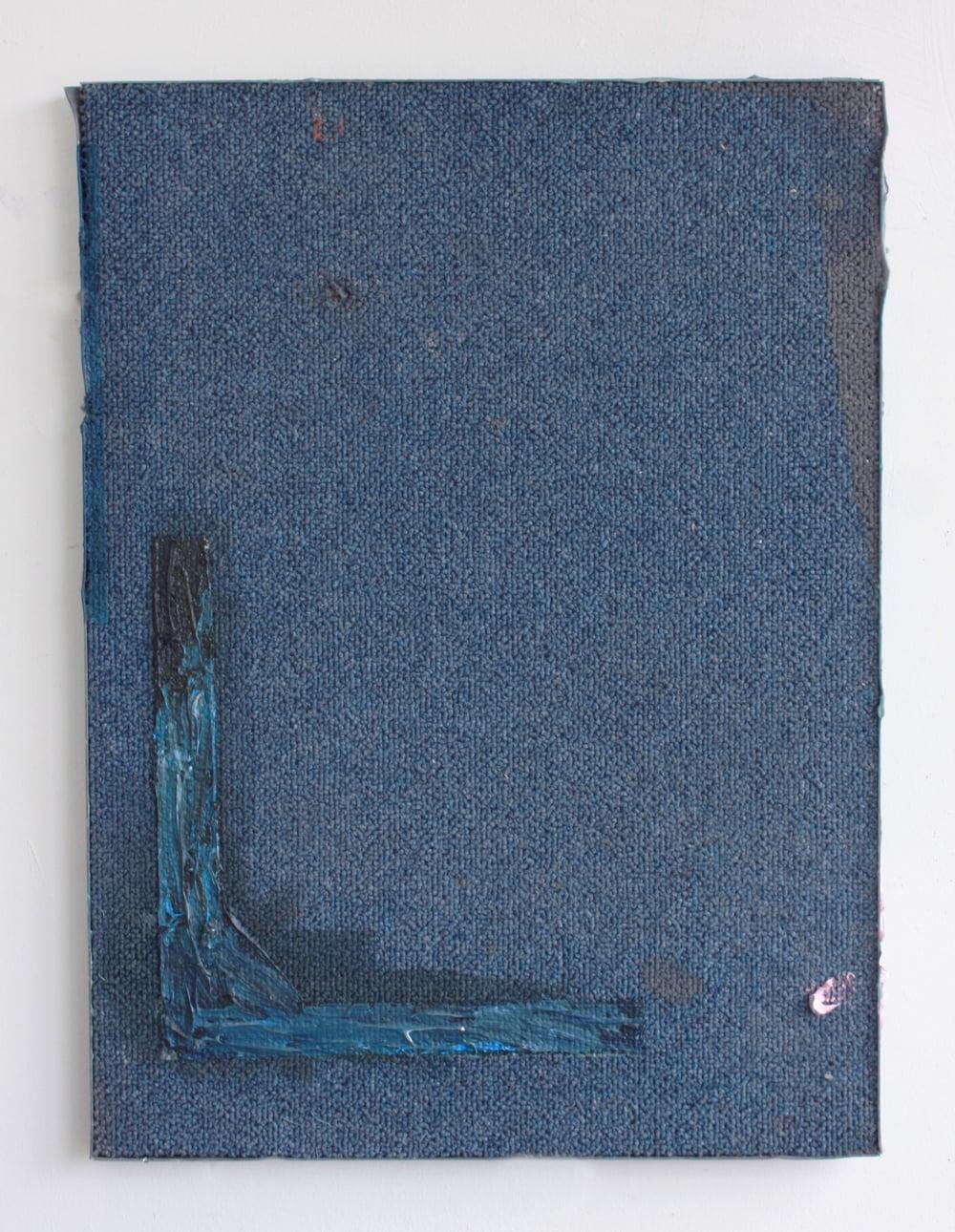 'Untitled' 2014 Oil on carpet tile 32 x 18  x 2cm