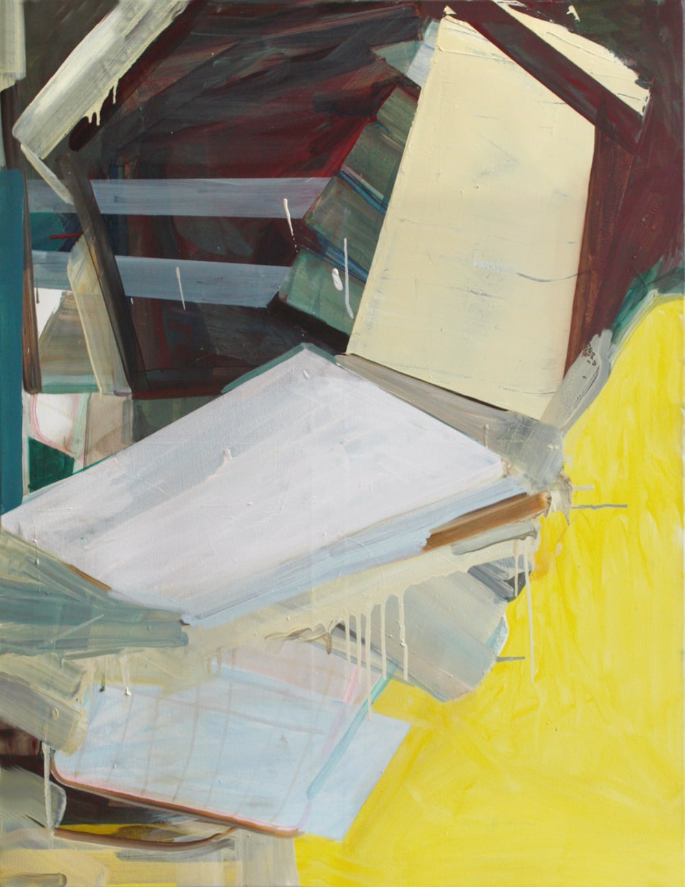 'Klettergerust I' 2012 Oil on canvas 100 x 78 cm