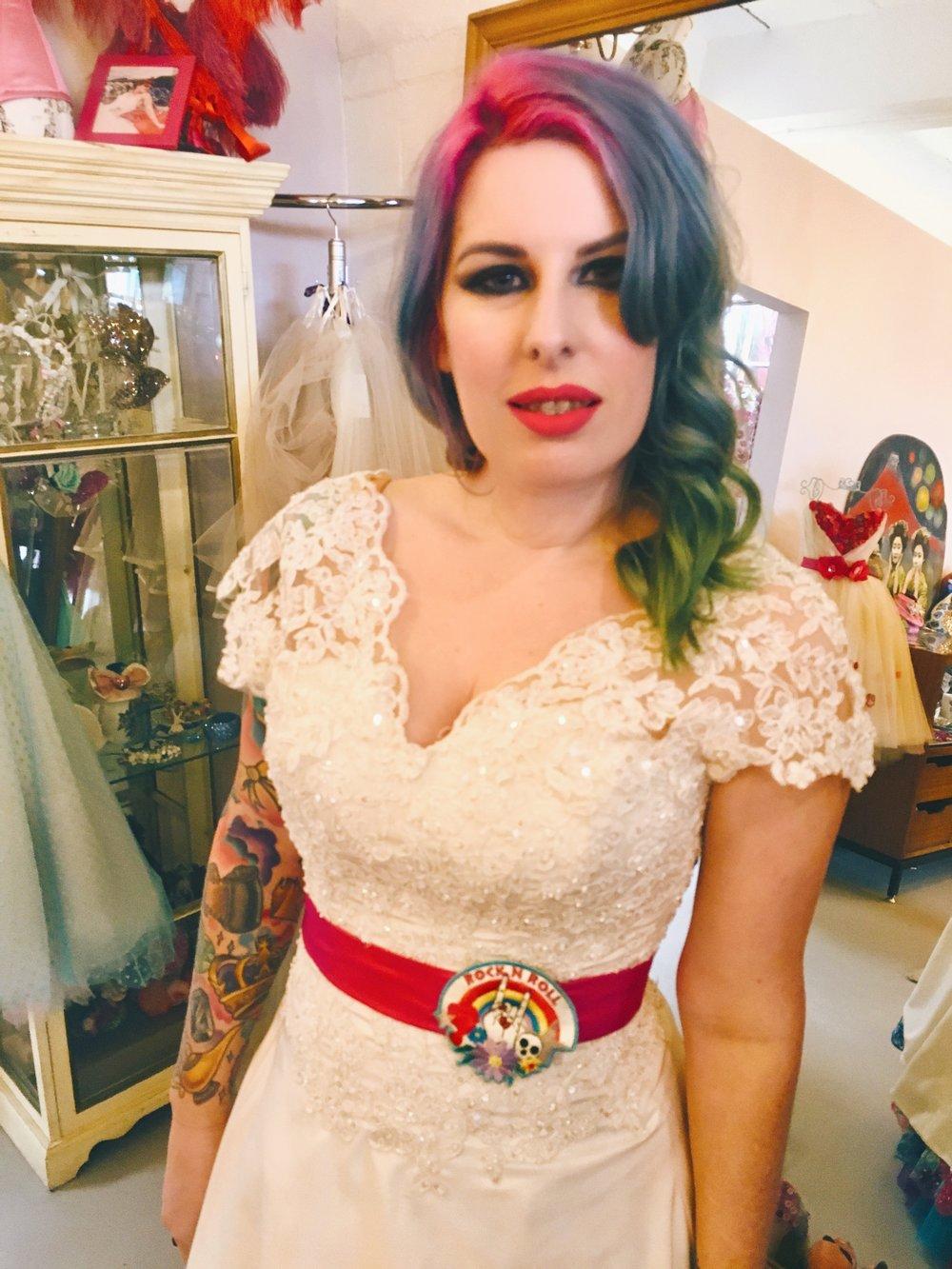 Lovely Kat from @rocknrollbride Check out her amazing magazine!     https://www.rocknrollbride.com