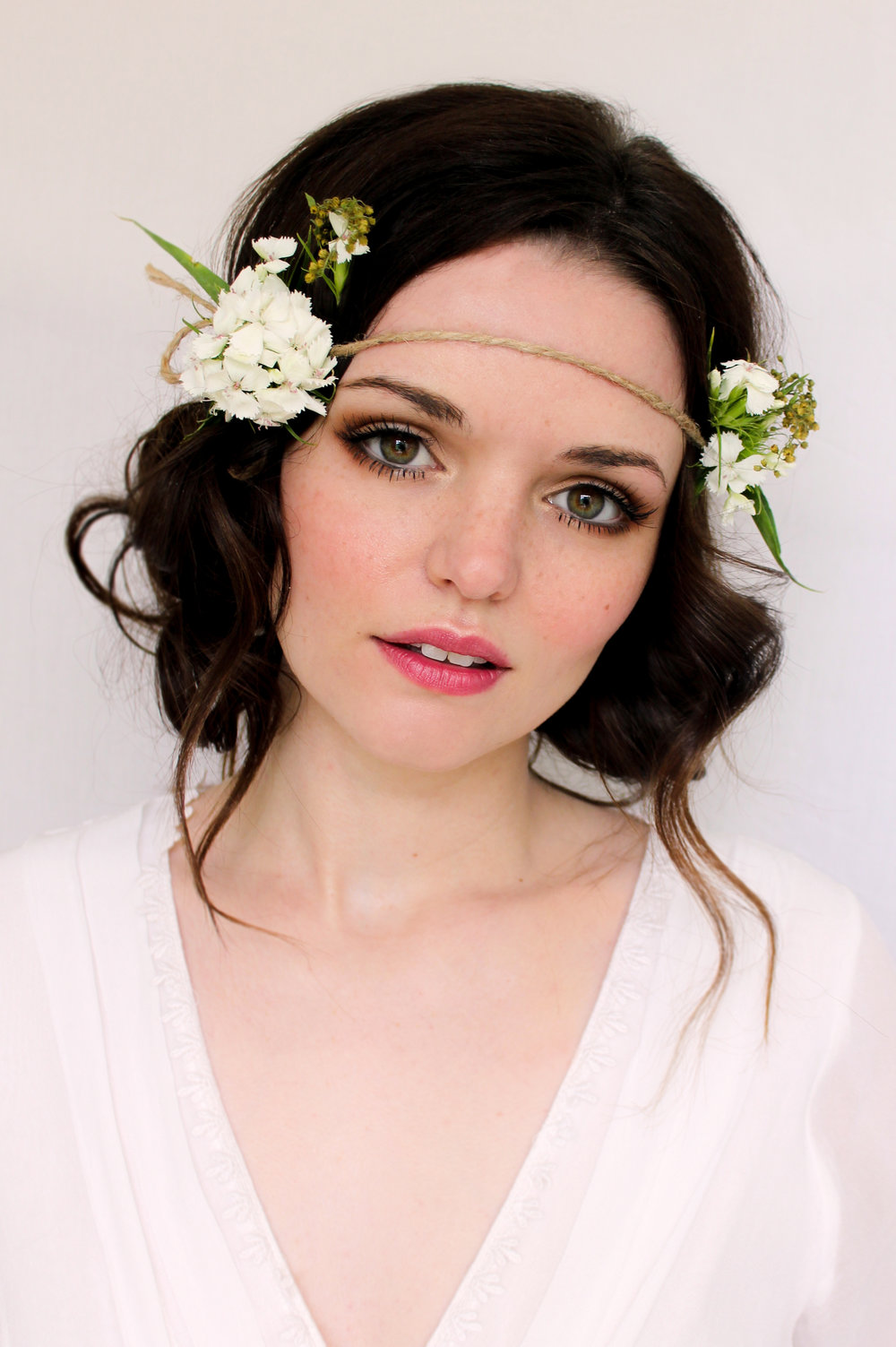 Pretty boho bridal makeup