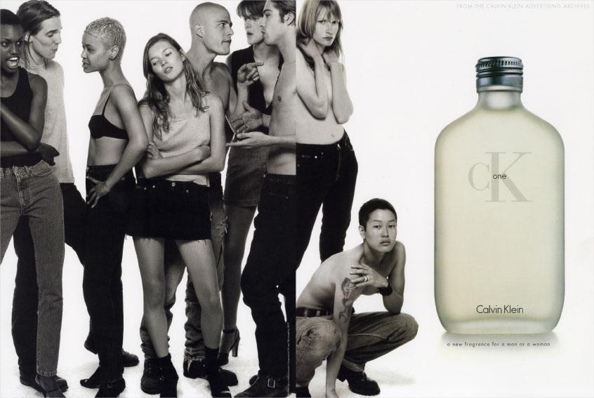 CK ONE launch in 1994     explore.calvinklein.com
