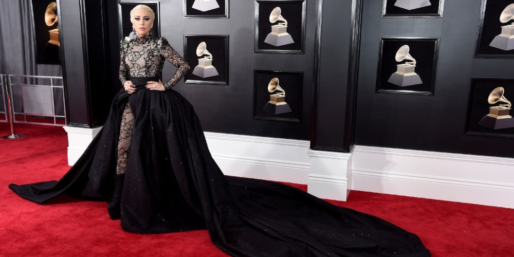 Lady Gaga stole the show off stage in an Armani Privé dress, and on stage with her emotional performance of a Million Reasons.