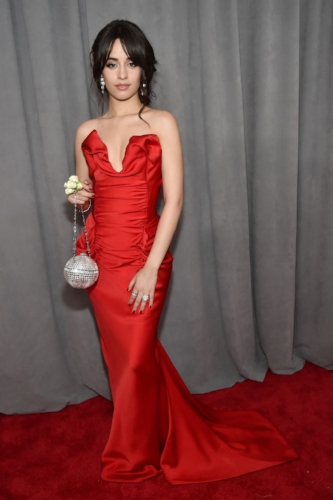 Camilla Cabello looked gorgeous in a classic red dress by Vivienne Westwood.