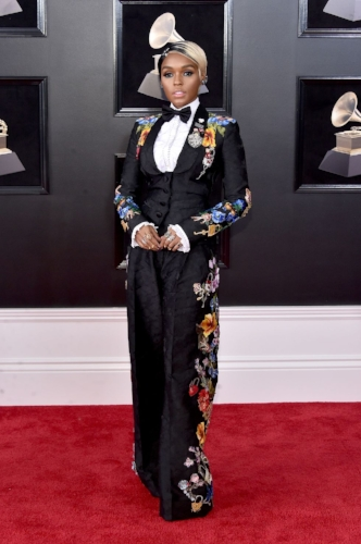 Janelle Monáe stood out from the crowd in a beautiful Dolce & Gabbana suit.