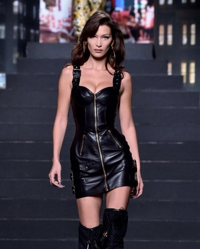 Bella Hadid in Moschino