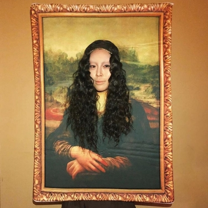 Aimee Song as the Mona Lisa