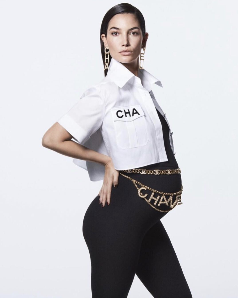 Lily Aldridge in Chanel