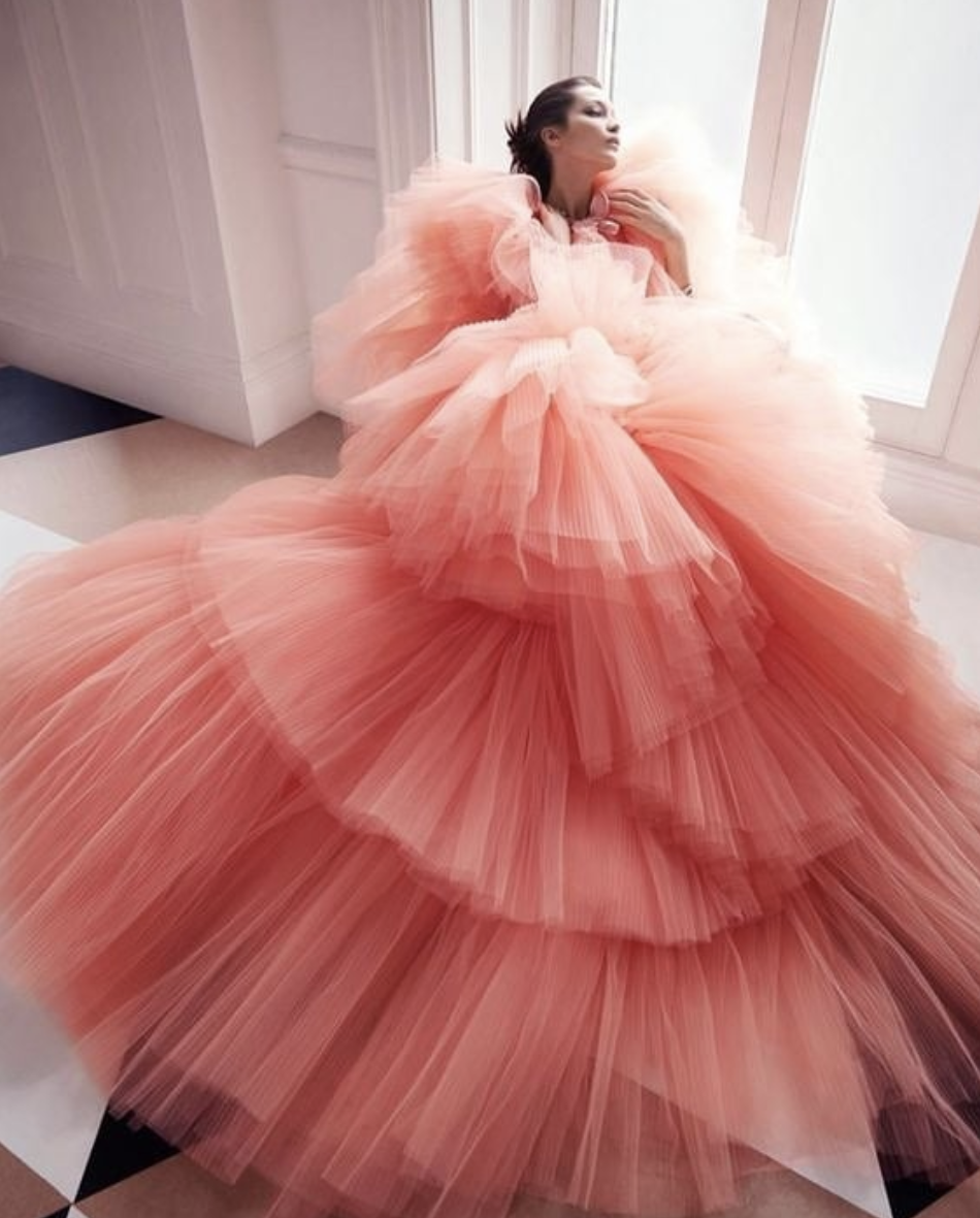 Bella Hadid in Giambattista Valli