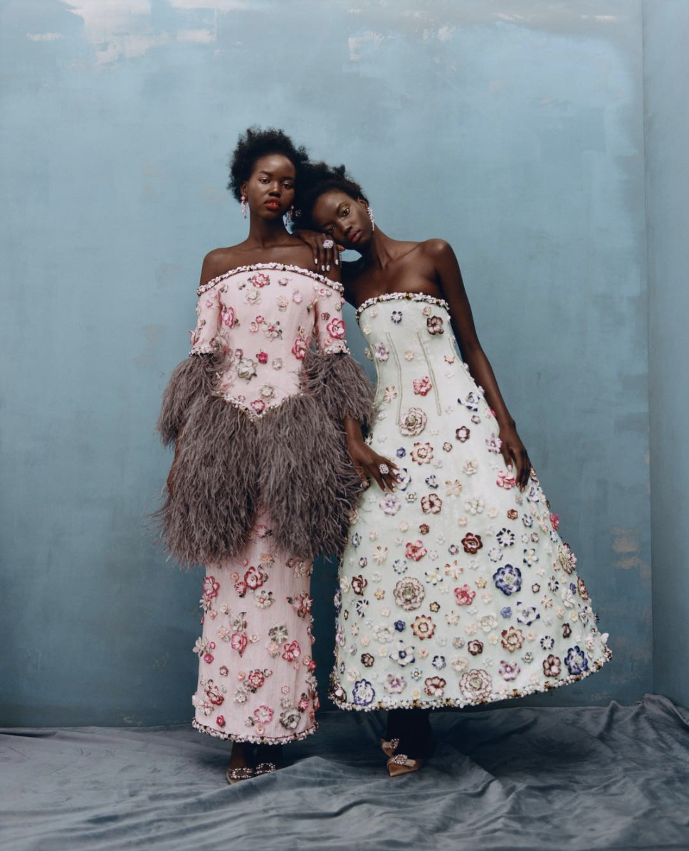 Adut Akech and Anok Yai for Chanel