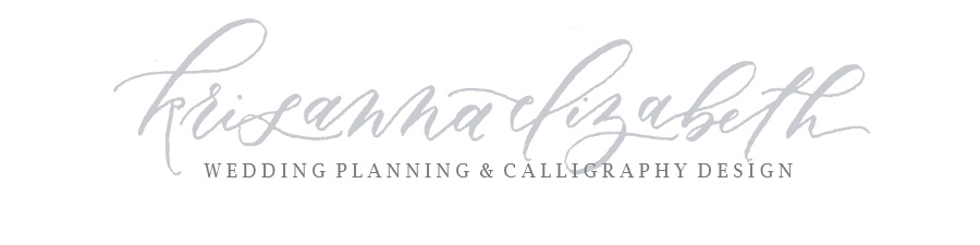 Seattle Wedding Planner + Calligrapher | Krisanna Elizabeth Co.