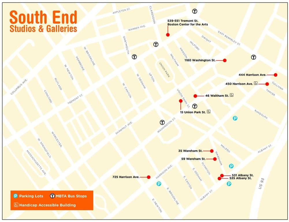South End Open Studios Map