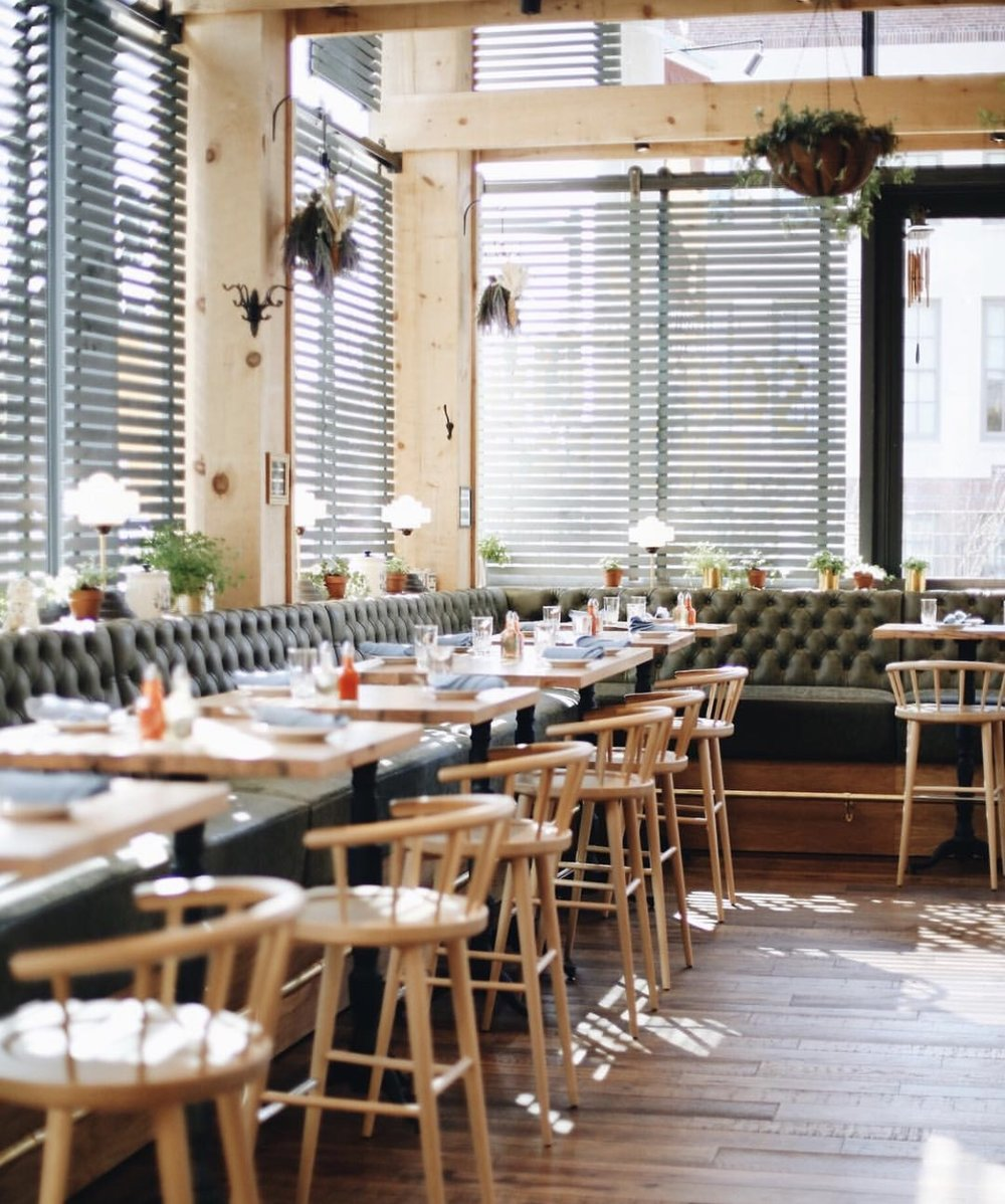 SOUTHERN PROPER - Just like the name, expect proper southern cuisine. Fried chicken and deviled eggs are staples on the menu. The interior is sure to give you some amazing design inspiration while you dine. On the weekends, they also serve up a mean southern styled brunch!