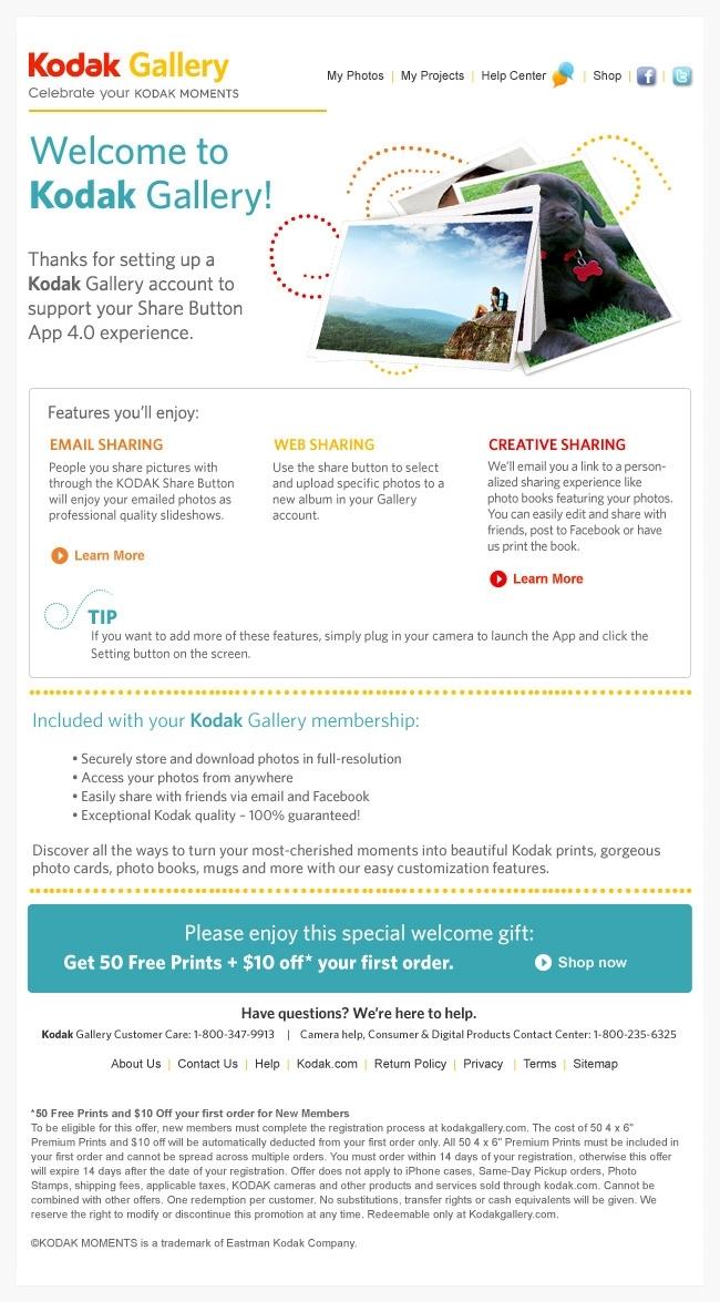 Kodak Gallery: Email Trigger Series — Morgan McGuire: Designer