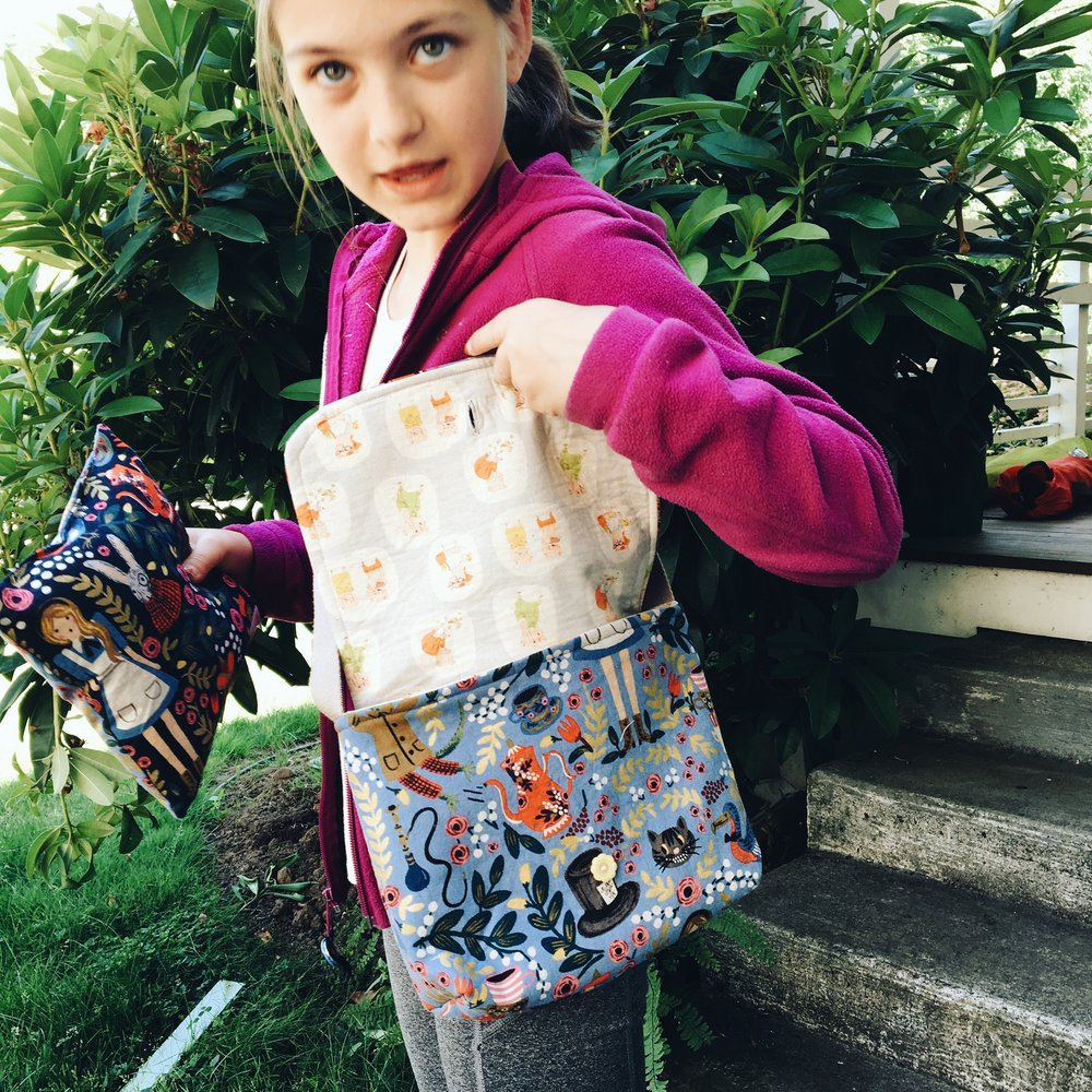 Audrey's messenger bag.