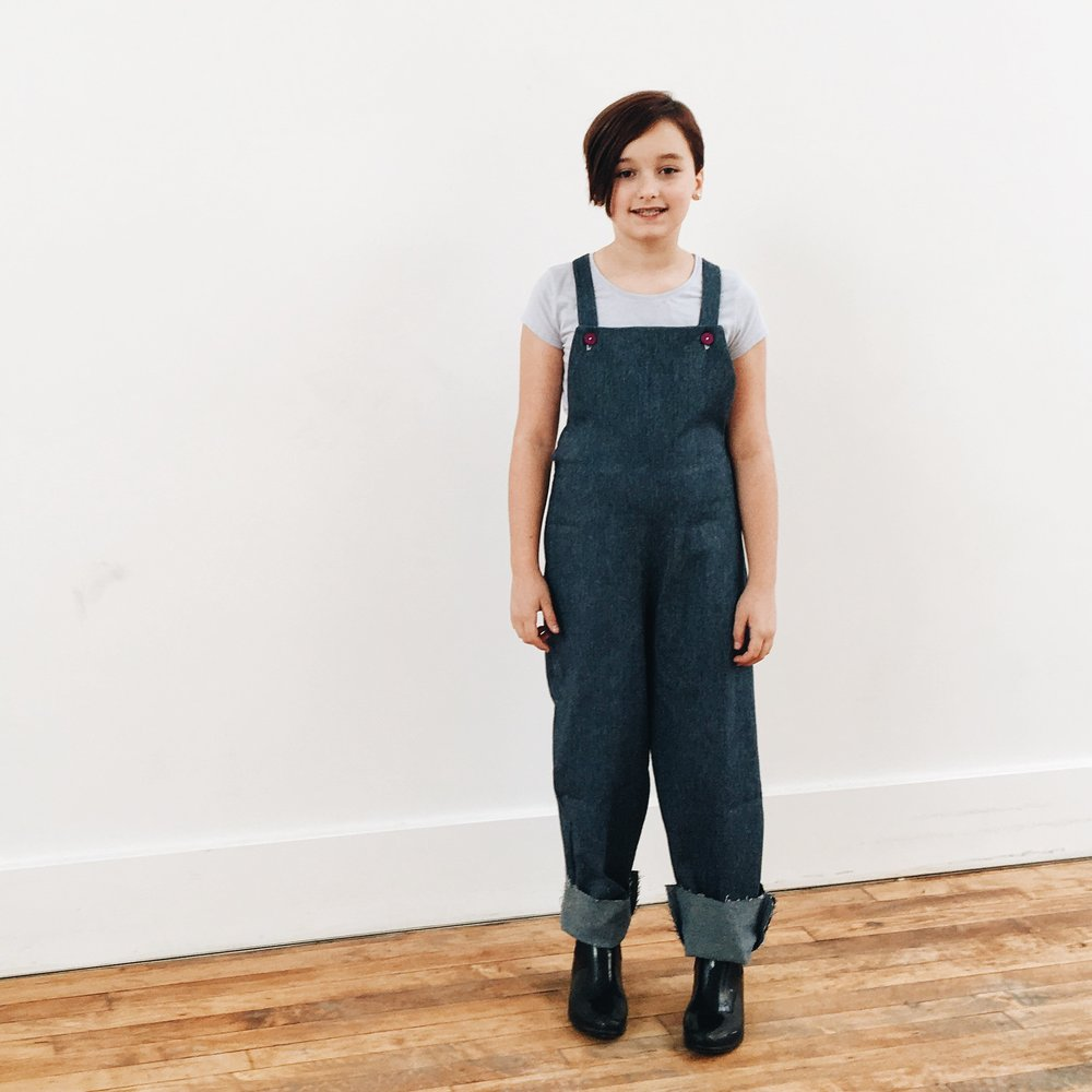 Maia's jumpsuit overalls
