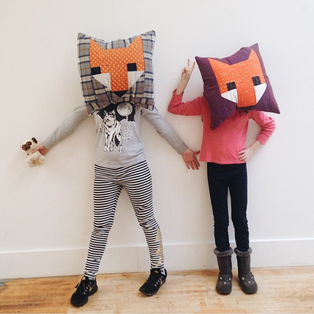Francis' and Eleanor's fox pillows