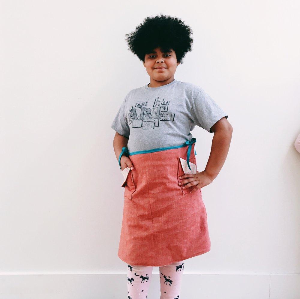 Eytan's wrap skirt