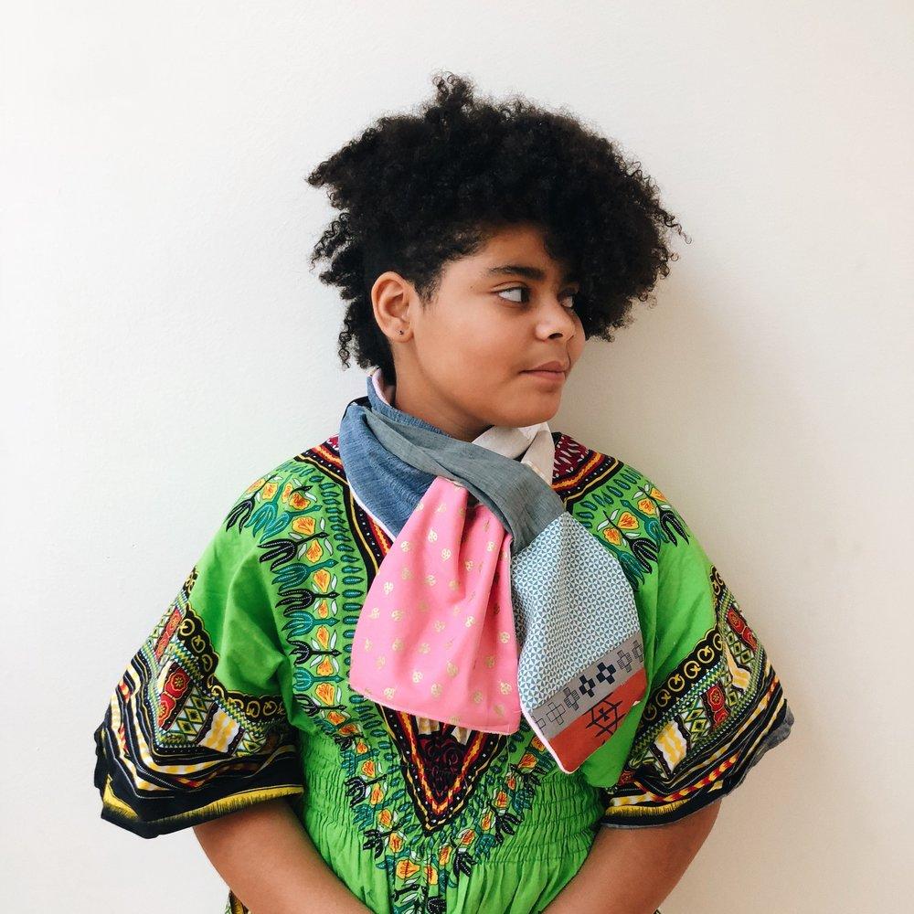 Eytan's patchwork scarf