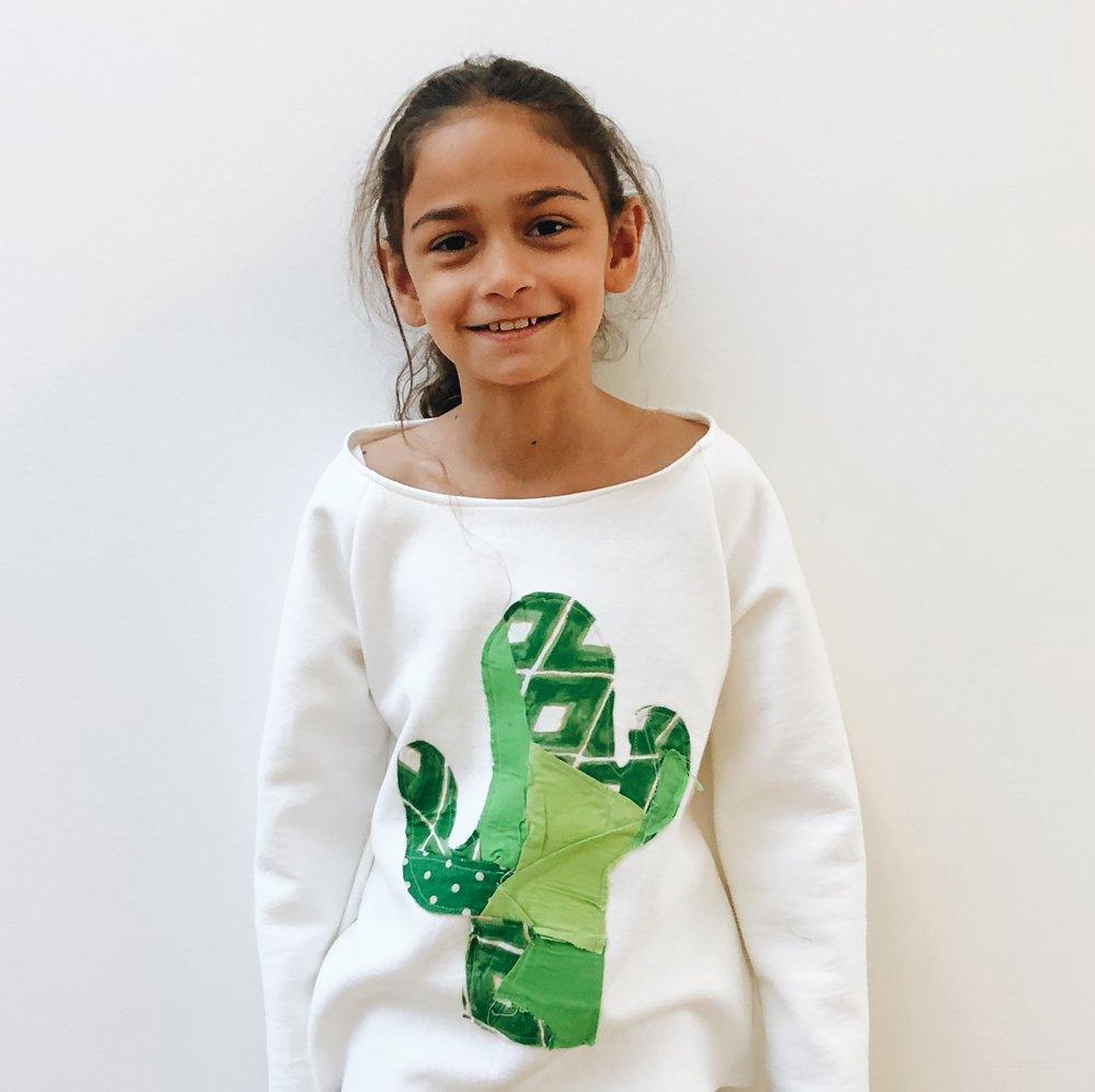 Priya's cactus appliqué sweatshirt
