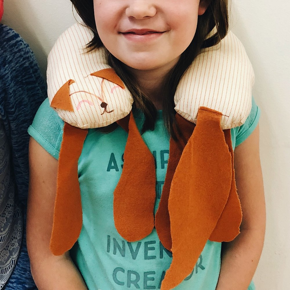 Cece's fox neck-pillow