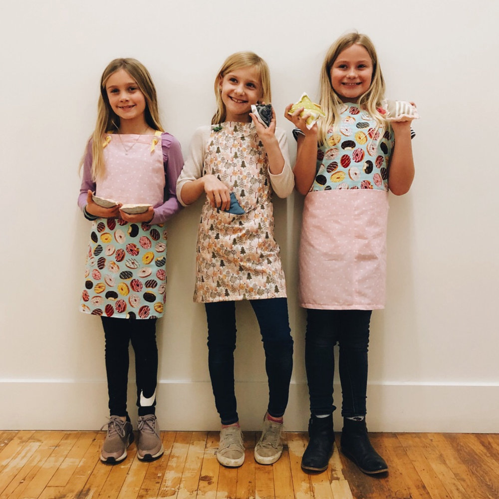 Aprons. Lilly, Parker and Ellie