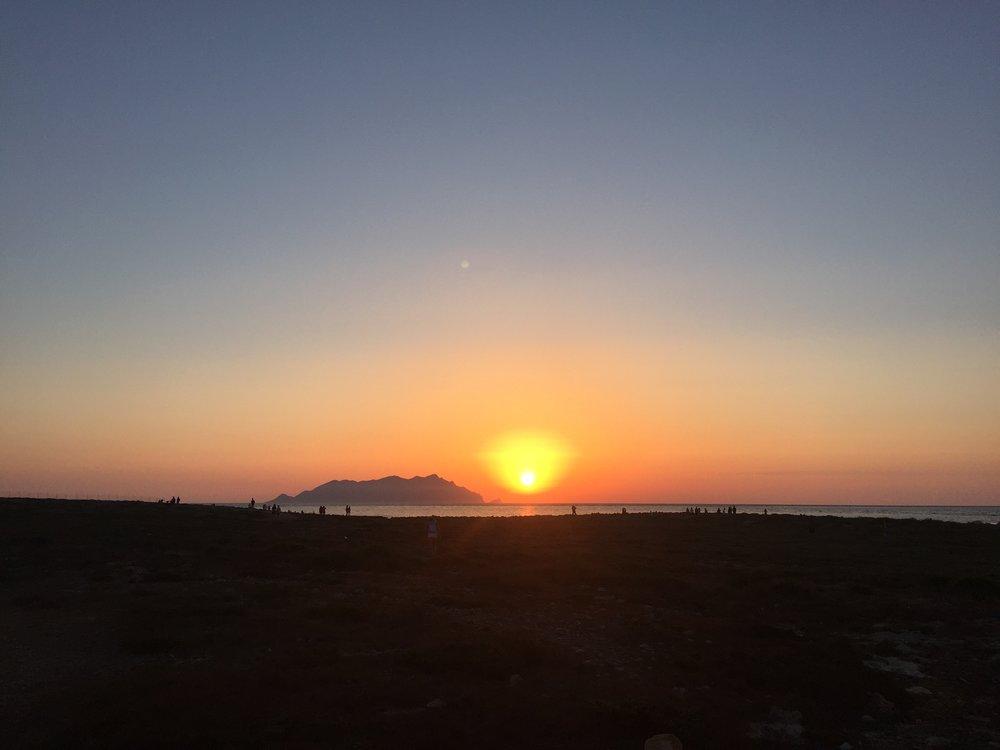 Tramonto dal Faro di Punta Sottile