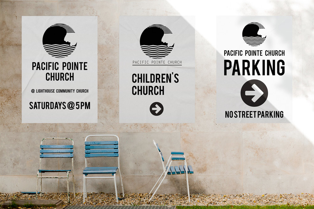 Pacific Pointe Church Sandwich Signs